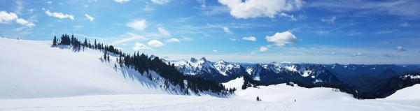 Snowshoeing at Paradise at Mount Rainier