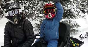 Park City First Timers: Snowmobiling