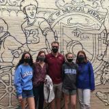 Family Enjoying Free Walking Tours of Chapel Hill