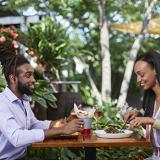 Dining outdoors at ACME Food & Beverage