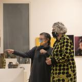Visitors to FRANK Gallery