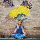 Bee Mural Carrboro-Chapel Hill Mural Tour