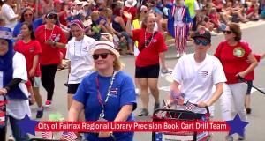 The Fairfax County Library Book Cart  Drill Team