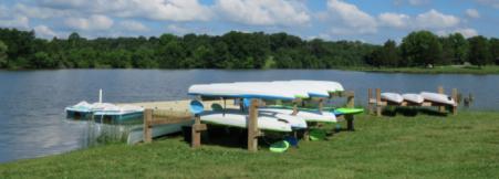 photo of kayaks at aj jolly park in Alexandria ky