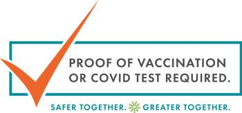 Banner for COVID test required