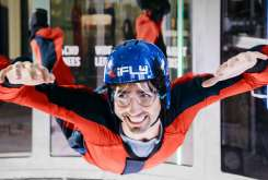 iFLY Indoor Skydiving Man Flying in Tunnel