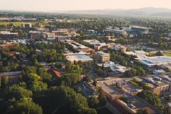 Fort Collins CSU aerial view
