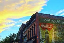 Sunset over CooperSmith's Ghost Sign