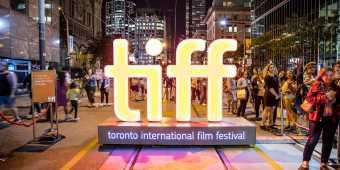 The Toronto International Film Festival sign on King Street West