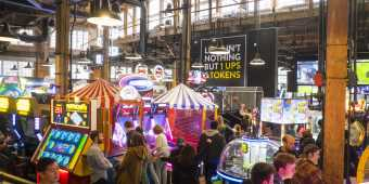 The Rec Room offers food, drink, live events and games, in Toronto's Entertainment District