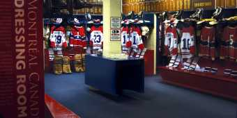 The Montreal Canadiens dressing room exhibit at the Hockey Hall of Fame