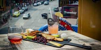 Drinks and a cheese board from the Niagara Brewing Company in Niagara Falls