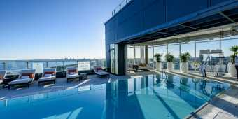 The rooftop pool at Hotel X