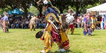 person dancing at Indigenous Arts Festival