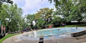 Wading pool at Kew Gardens in Toronto