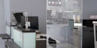 Plexiglass barriers installed at Toronto Pearson Airport