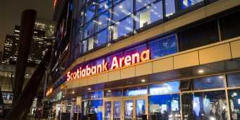 Scotiabank Area at night
