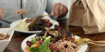 Jerk chicken at Simone's Caribbean Restaurant