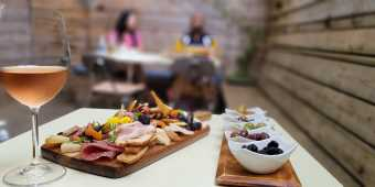 Wine and charcuterie at Nuit Social