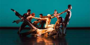Dancers perform onstage at the Luminato festival in Toronto