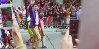 Prime Minister Justin Trudeau at Toronto's Pride Parade