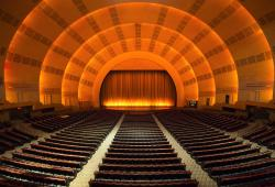 Radio City stage door tour, stage, interior