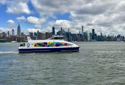 NYC Ferry Pride Boat