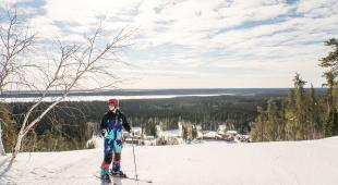 Skiing at Mystery Mountain near Thomson
