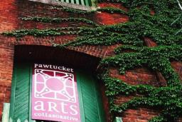 Pawtucket Arts Collaborative sign at the annual Craft and Kitsch Winter Market