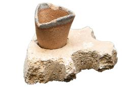 Early Black History Artifact-Crucible and Stand
