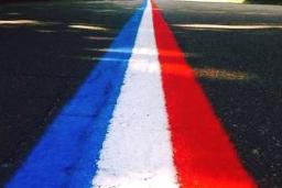 Red, White & Blue Street Lines