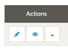 Available actions in Account section