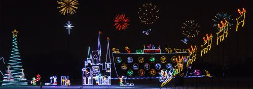 Enchanted Forest Holiday Light Display