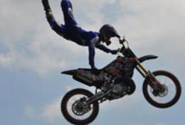 Person Jumping Dirt Bike