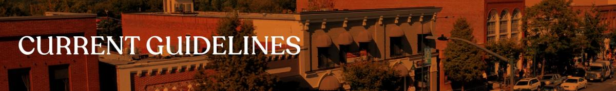 Current Guidelines Banner for Meetings Page