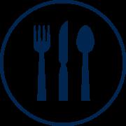 Visit Orlando Restaurants blue icon