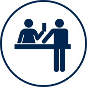 Visit Orlando Visitor Services blue icon