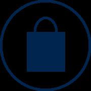 Visit Orlando Retail blue icon
