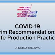 Screenshot of Interim Recommendations for Safe Production Practices Front Page
