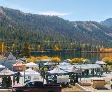 June Lake Autumn Beer Fest fall colors