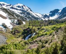 Lundy Canyon waterfalls