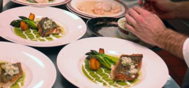 Meals prepared at Culinary Institute of America in New York