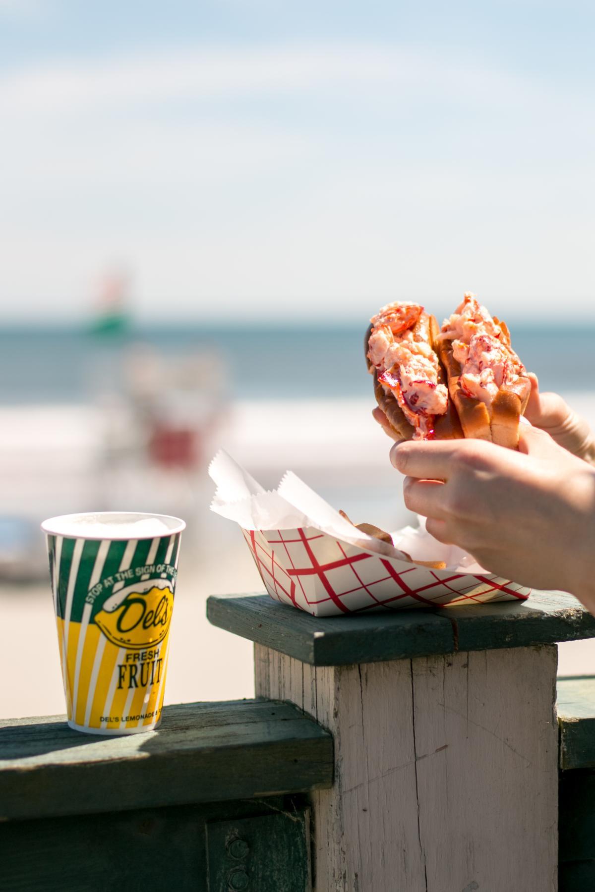 Easton's Beach Snack Bar Lobster Roll
