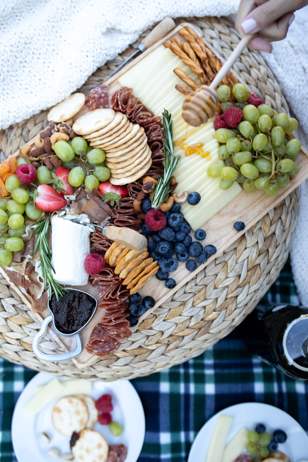 Crackers And Grapes At A Newport Mansions Picnic