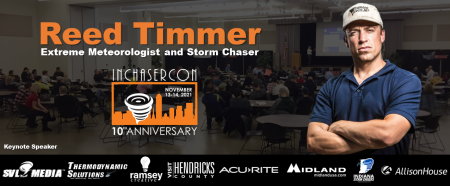 Reed Timmer will serve as the Keynote Speaker at INChaserCon
