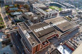 Aerial view of Grand Wayne Convention Center