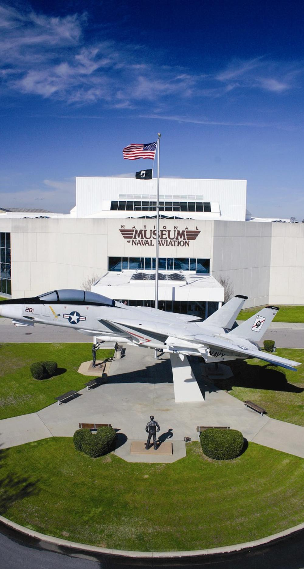 The Naval Aviation Museum and the headquarters of the Blue Angels are located in the Naval Air Station in Pensacola.