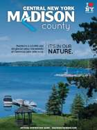 Cover of Inspiration Guide, features a view of Cazenovia Lake