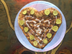 Hot Chicken Takeover and Mikey's Late Night Slice team up for a special pizza for Valentine's Day