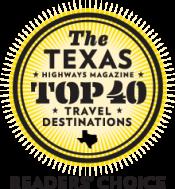 Texas Highways Magazine Top 40 Travel Destinations button